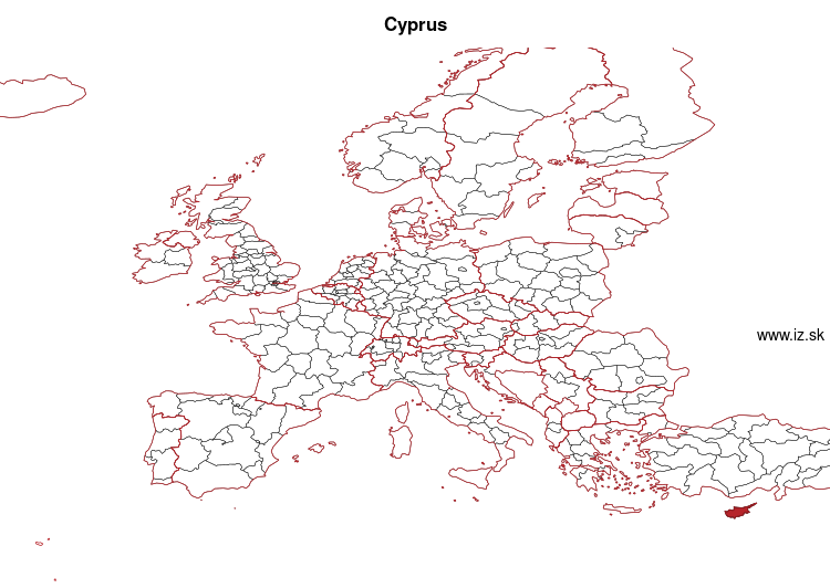 map of Cyprus CY