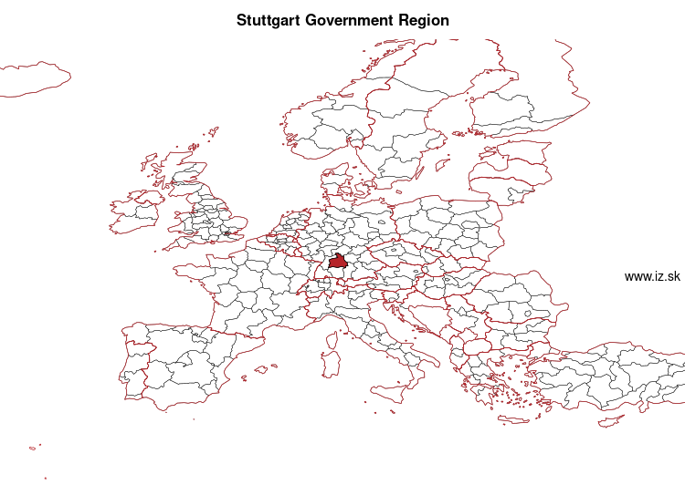 map of Stuttgart Government Region DE11