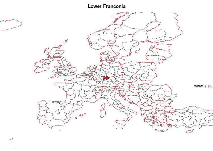 map of Lower Franconia DE26