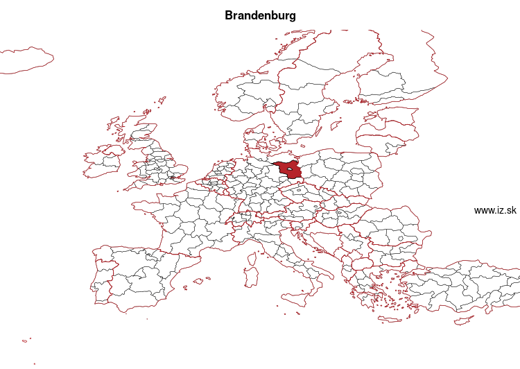 map of Brandenburg DE40
