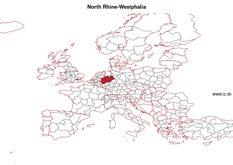 map of North Rhine-Westphalia DEA