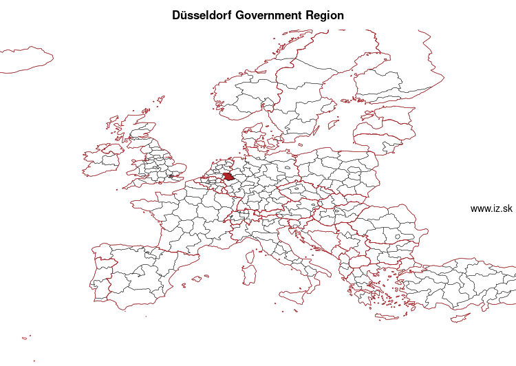 map of Düsseldorf Government Region DEA1
