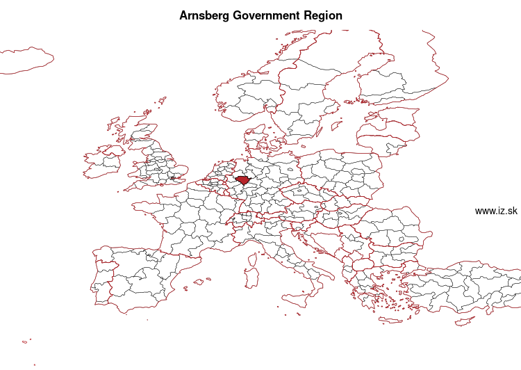 map of Arnsberg Government Region DEA5