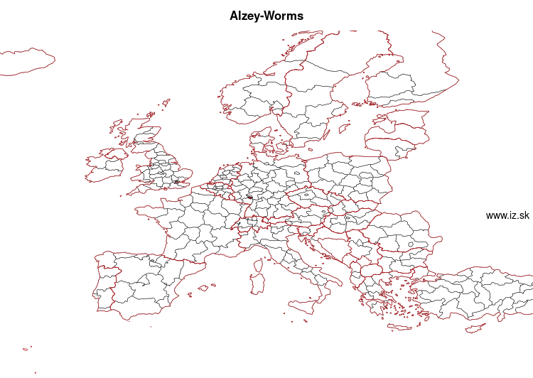 map of Alzey-Worms DEB3B