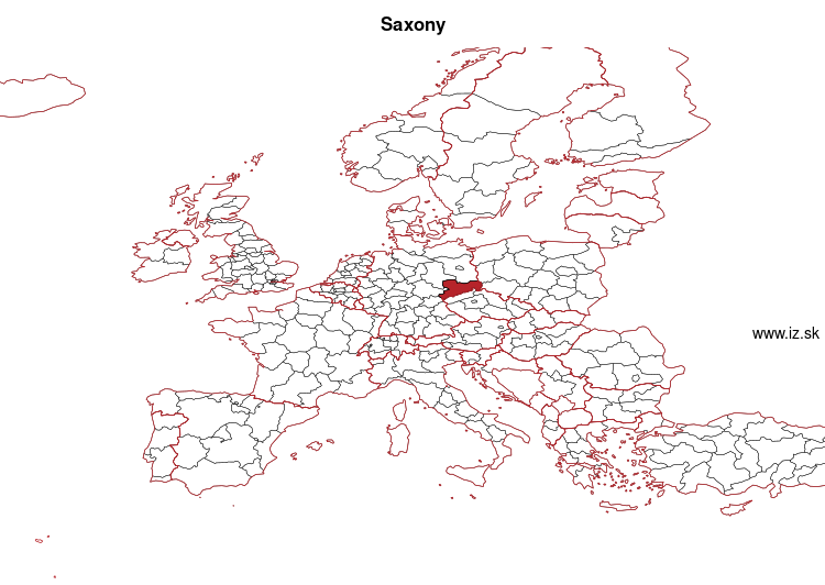 map of Saxony DED