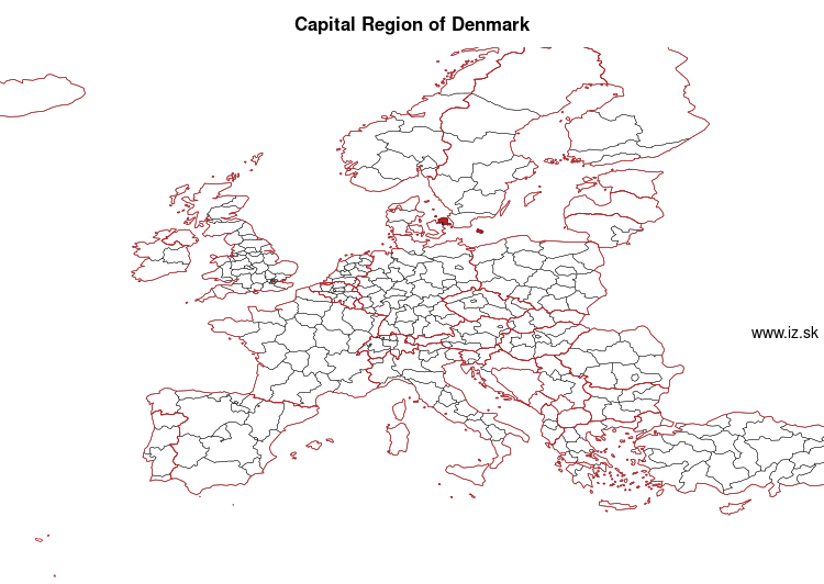 map of Capital Region of Denmark DK01