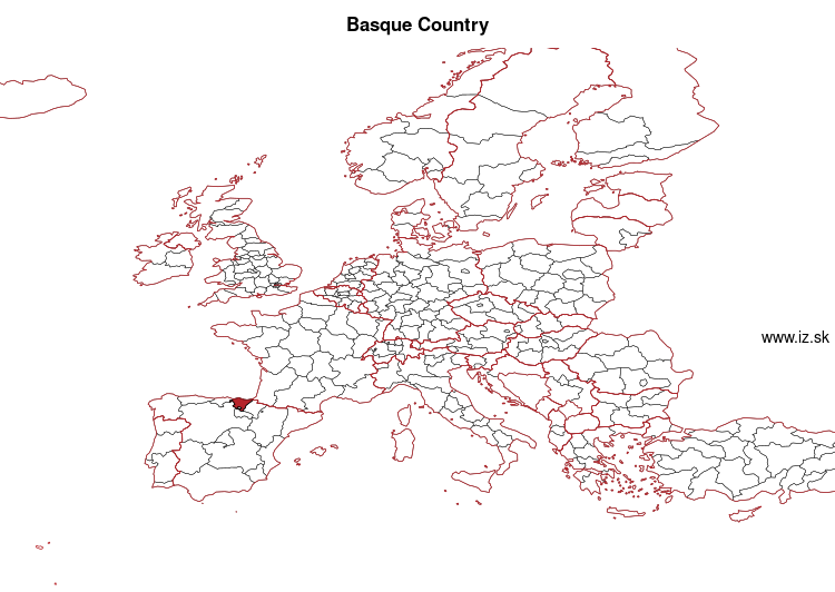 map of Basque Country ES21