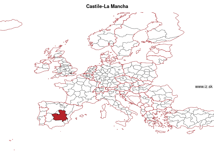 map of Castile-La Mancha ES42