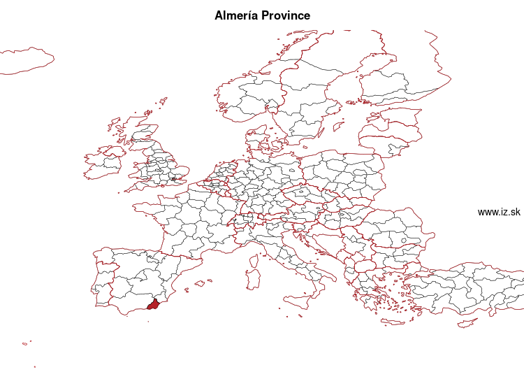 map of Almería Province ES611