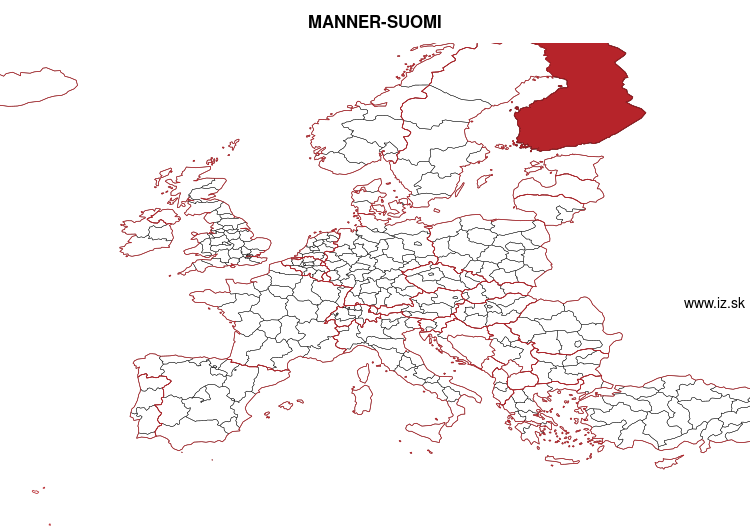 map of MANNER-SUOMI FI1