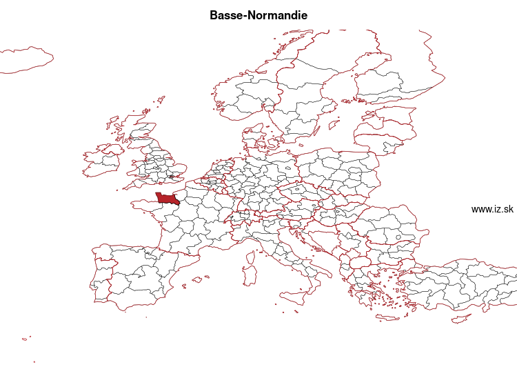map of Basse-Normandie FRD1