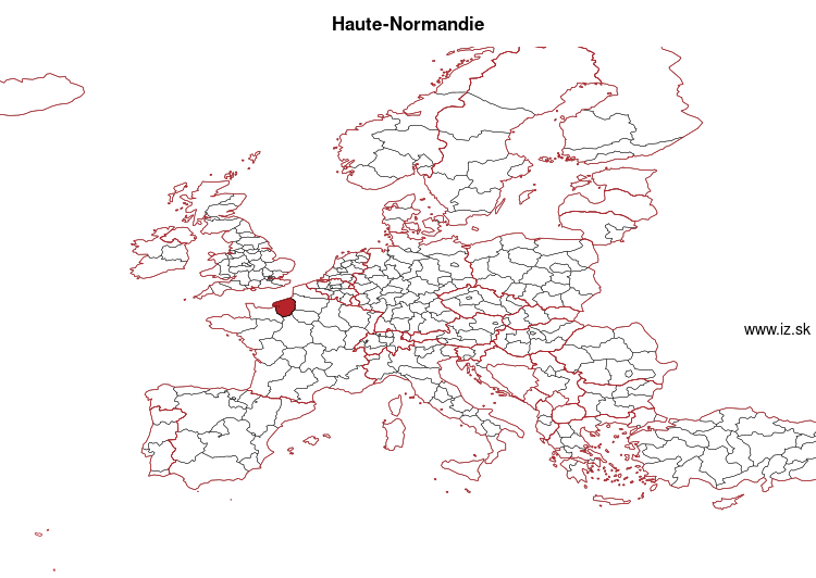 map of Haute-Normandie FRD2