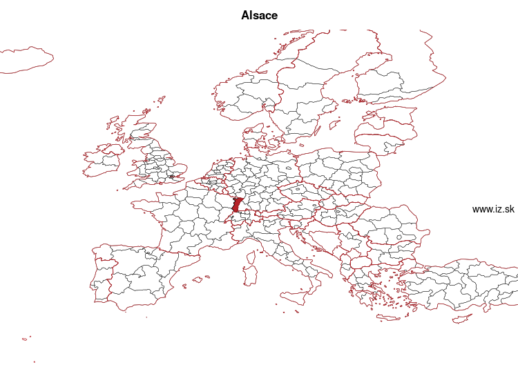 map of Alsace FRF1