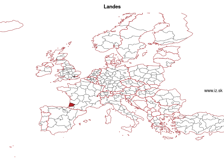 map of Landes FRI13