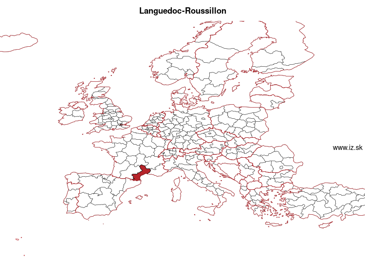 map of Languedoc-Roussillon FRJ1