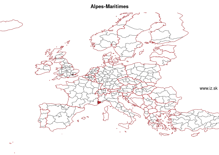 map of Alpes-Maritimes FRL03