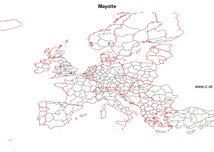 map of Mayotte FRY50