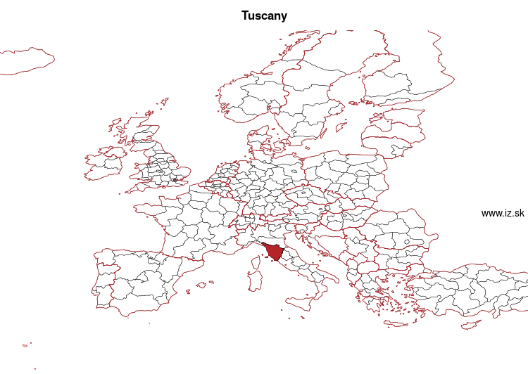 map of Tuscany ITI1