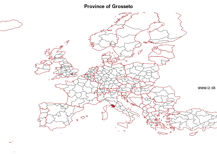 map of Province of Grosseto ITI1A