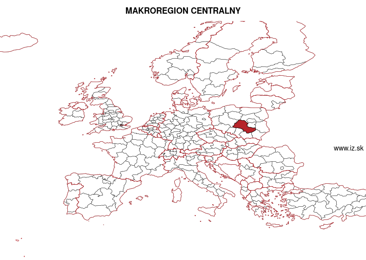 map of MAKROREGION CENTRALNY PL7