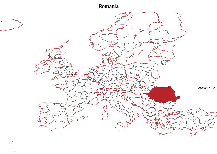 map of Romania RO
