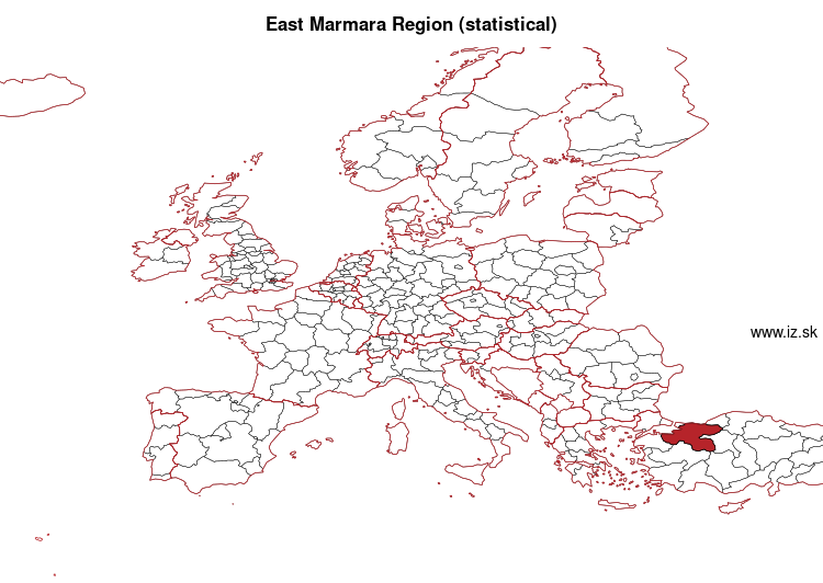 map of East Marmara Region (statistical) TR4