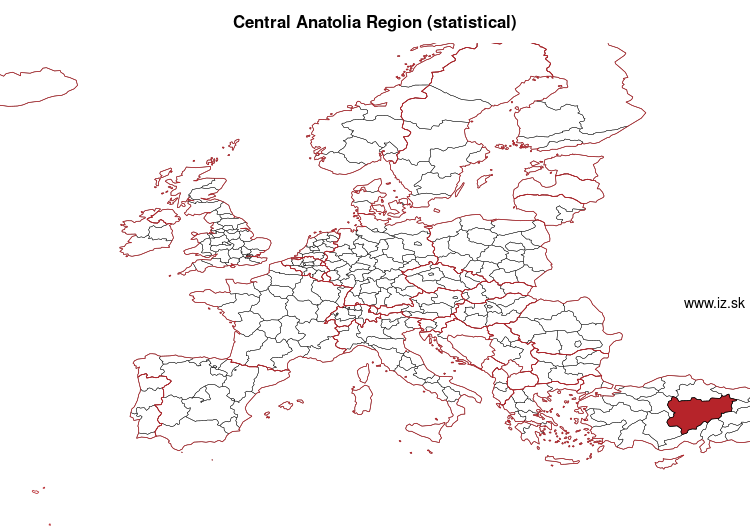 map of Central Anatolia Region (statistical) TR7