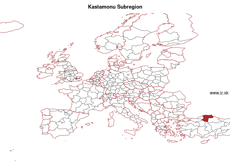 map of Kastamonu Subregion TR82