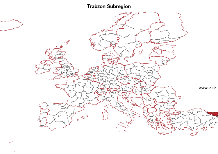 map of Trabzon Subregion TR90