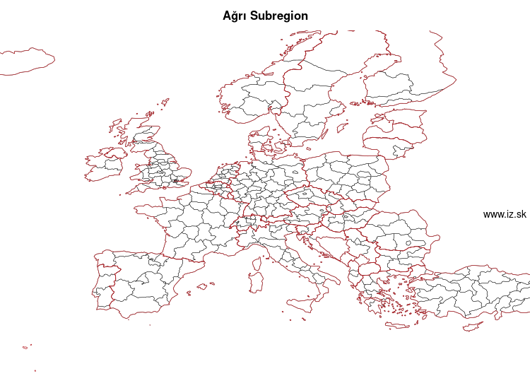 map of Ağrı Subregion TRA2