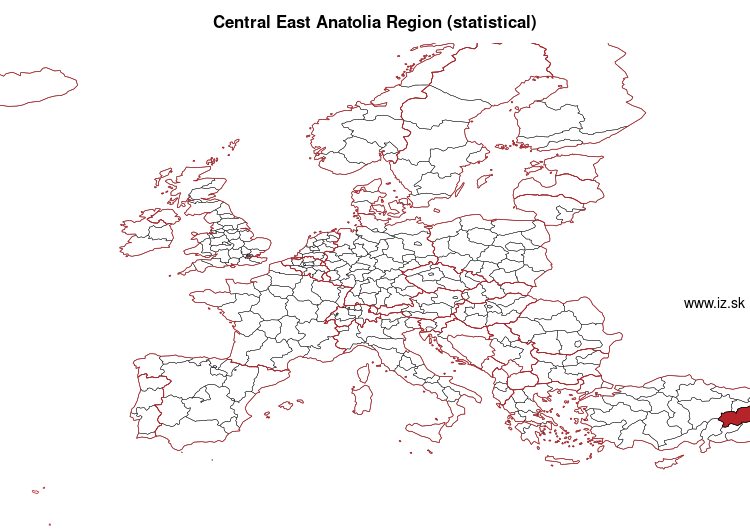map of Central East Anatolia Region (statistical) TRB