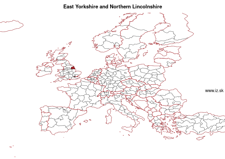 map of East Yorkshire and Northern Lincolnshire UKE1