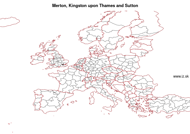 map of Merton, Kingston upon Thames and Sutton UKI63