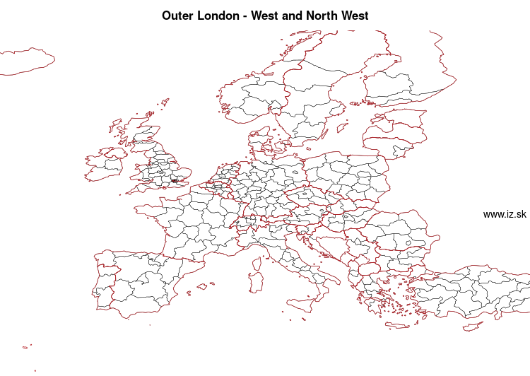 map of Outer London – West and North West UKI7