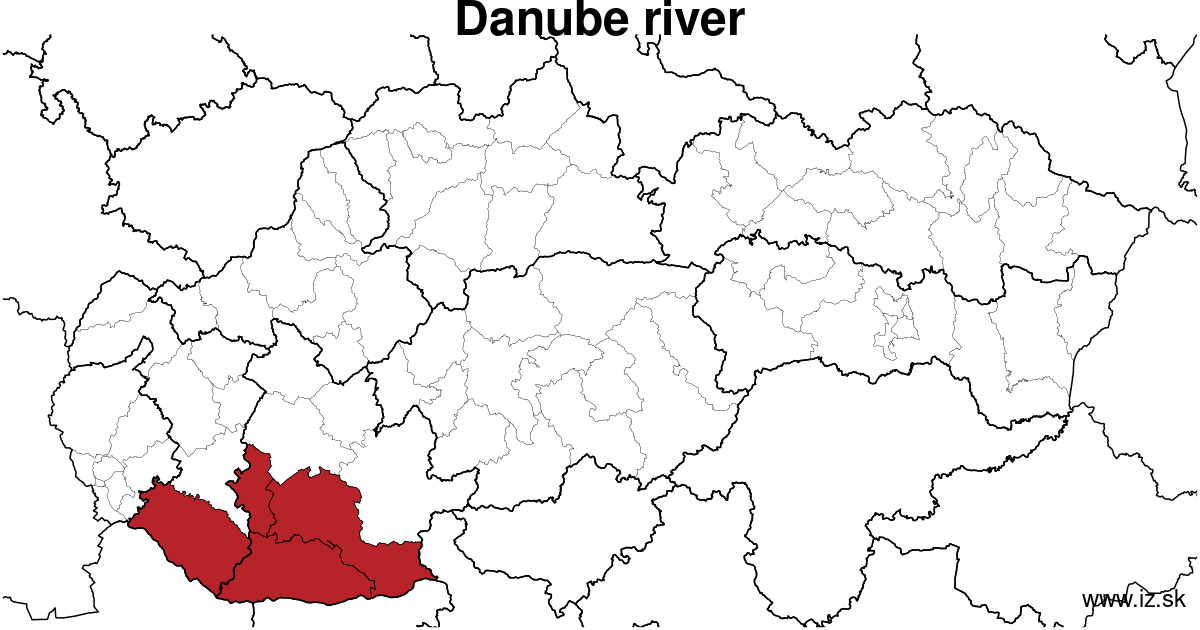 map of region Danube river