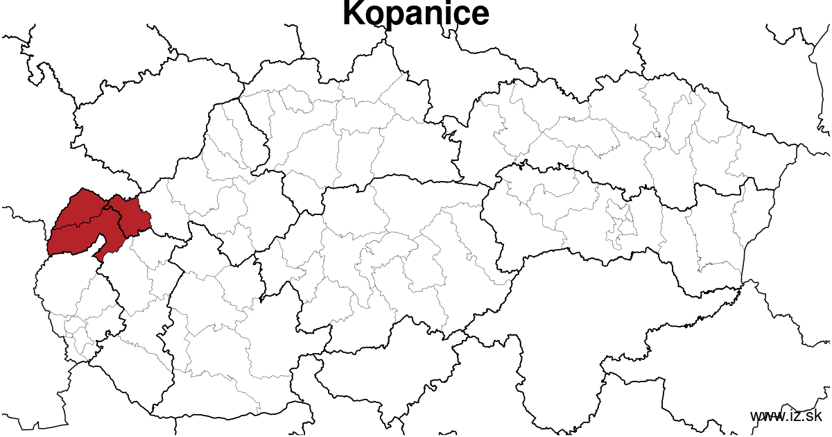 map of region Kopanice