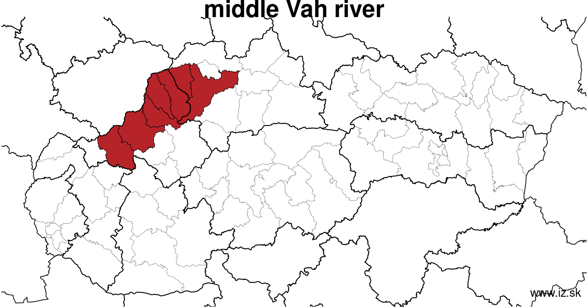 map of region middle Vár river