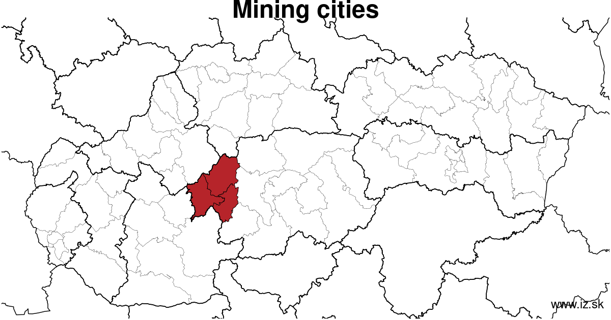 map of region Mining cities