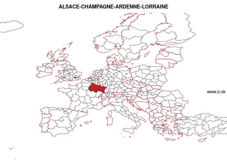 mapka ALSACE-CHAMPAGNE-ARDENNE-LORRAINE FRF