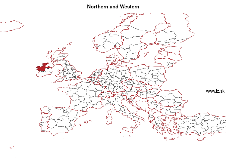 mapka Northern and Western IE04