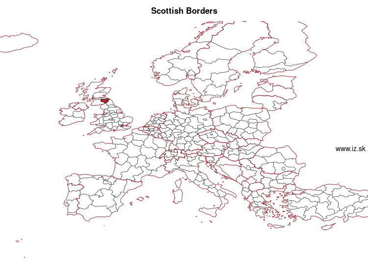 mapka Scottish Borders UKM91