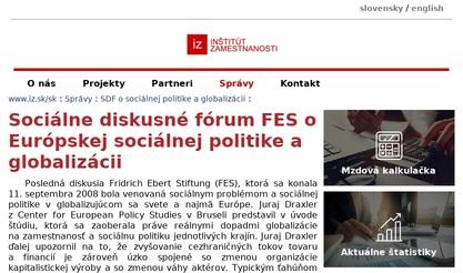 Sociálne diskusné fórum FES o Európskej sociálnej politike a globalizácii -  Inštitút zamestnanosti 0b444d723a9